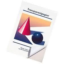 Transparentpapier A3, 25 Blatt, 70g/qm