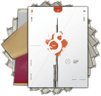 S8 - Stencil Papier [rot]