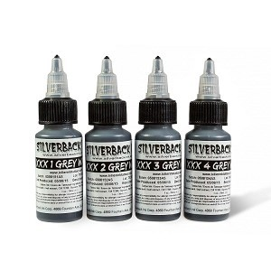 Silverback Ink - XXX1-4 Greywash Set, 4x30ml