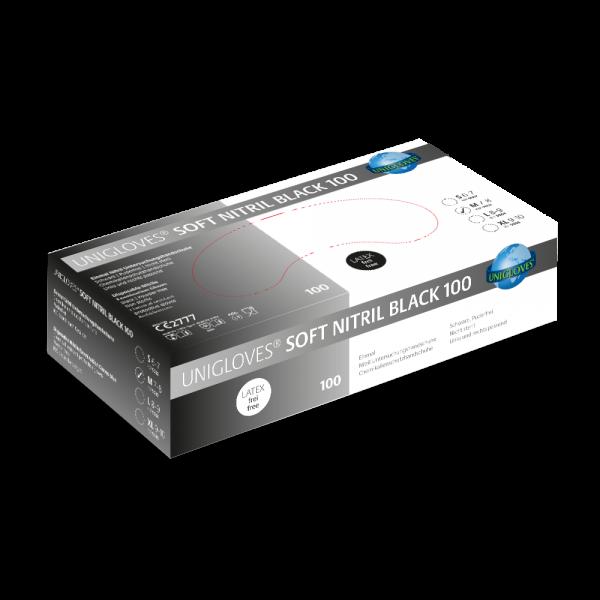 Unigloves - SOFT NITRIL BLACK 100