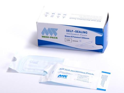 Medi-Pack   Sterilisationsbeutel, 57x79mm [selbstklebend]