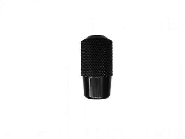 AS - Alu Griff mit PVD Beschichtung - schwarz/gerändelt [25mm]