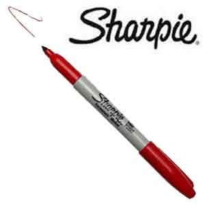 Sharpie - Fine Point Marker, 1 mm [rot]